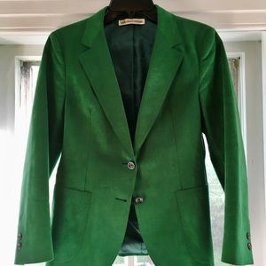 Unique vintage emerald green suede jacket size 6